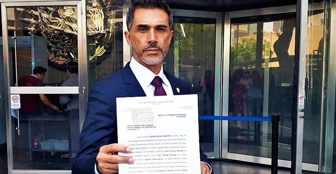 Sergio Mayer presenta denuncia ante la FGR por acusaciones de 'moches' en su contra