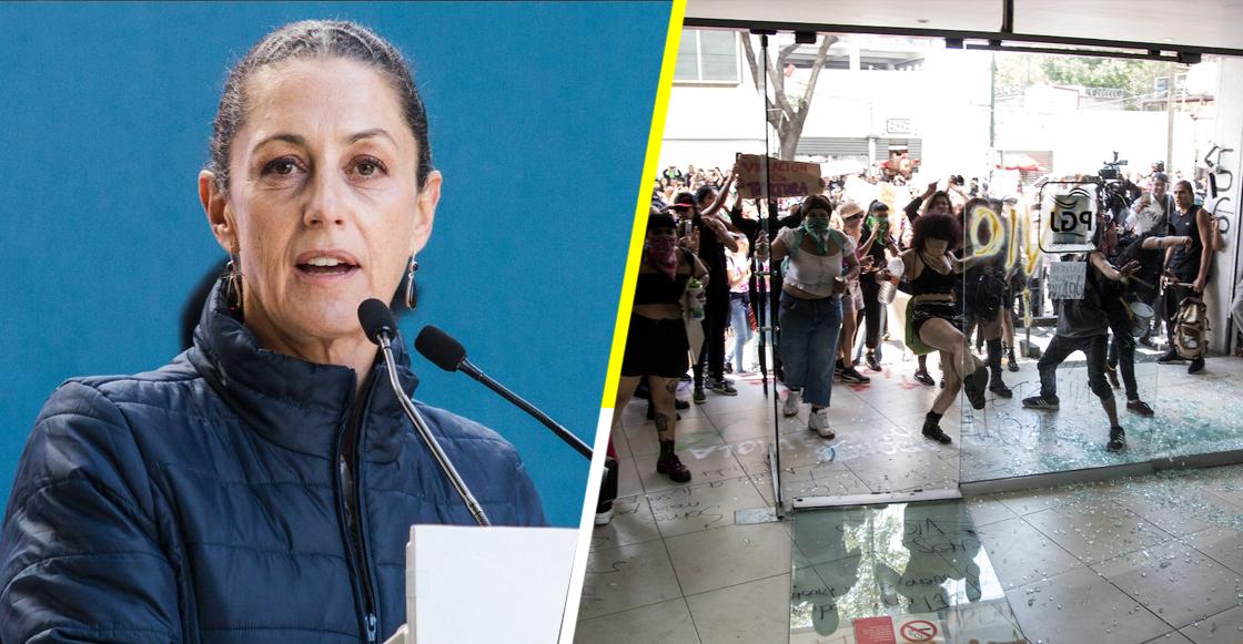 Ante protestas de casos de violación, dice Sheinbaum que el gobierno no