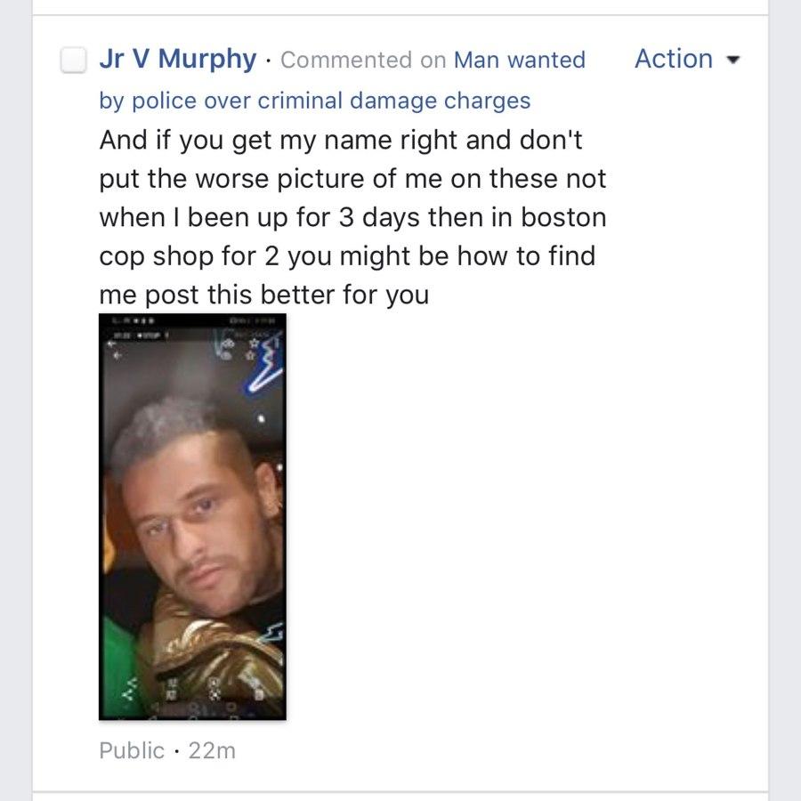 Sujeto manda selfie a la policía porque no le gusta la foto que usan para localizarlo