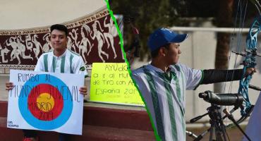 Atleta mexicano vende chocolates y rifa pasteles para ir al Mundial de Tiro con Arco