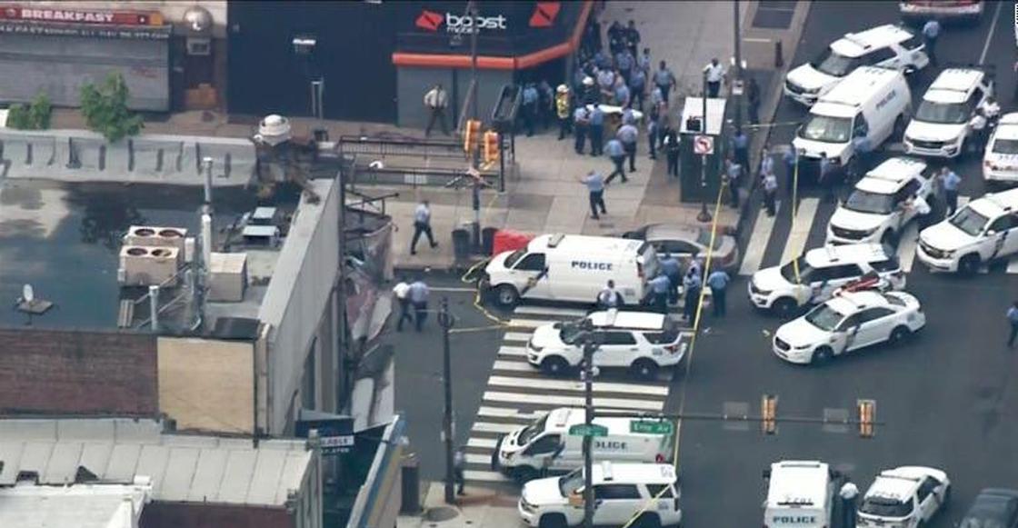 Se registra tiroteo en Filadelfia; al menos 5 oficiales heridos