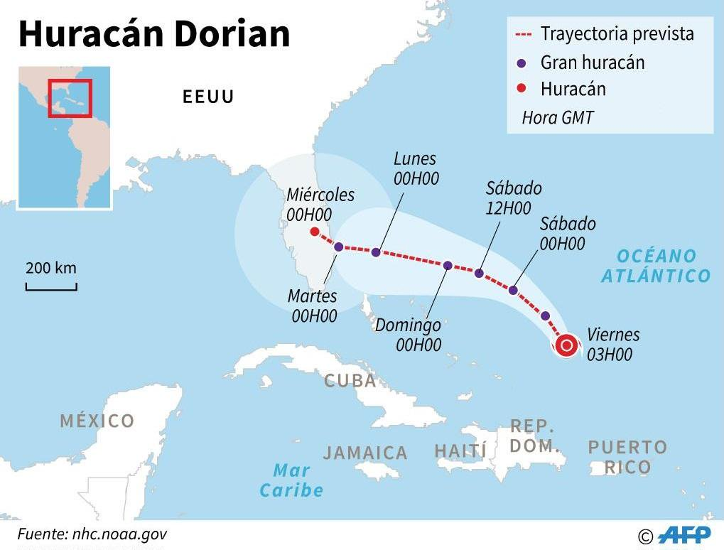 ¡Enorme! Así se ve el huracán Dorian desde el espacio