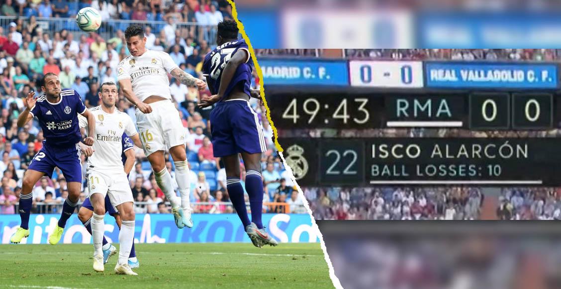 Bale y James de titulares, abucheos a Isco, empate agónico: así sufrió el Real Madrid