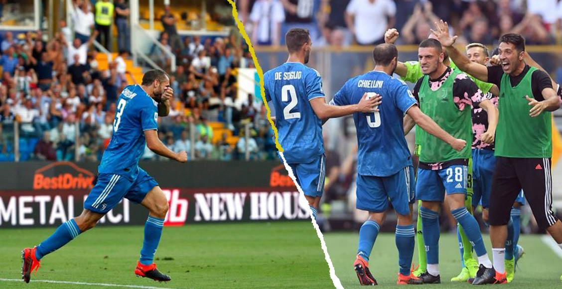 ¿De 'churro'? Así fue el primer gol de la temporada en la Serie A por Chiellini