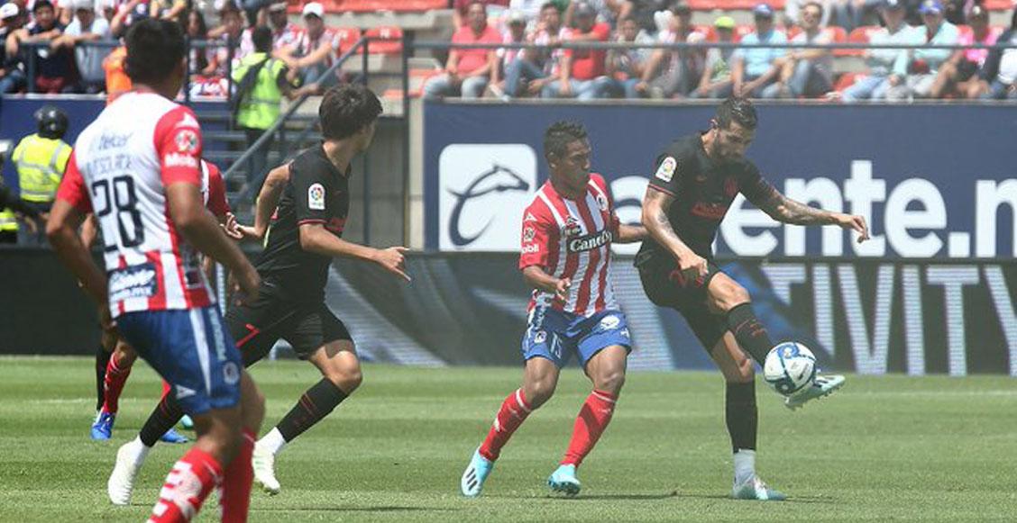 Con remontada y todas sus estrellas: Atlético de Madrid venció al San Luis en México