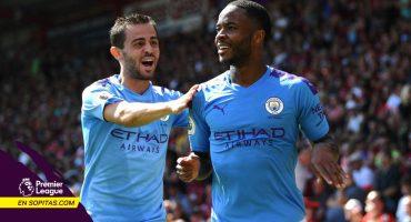 Manchester City extendió su racha invicta ante el Bournemouth con goles de Agüero y Sterling
