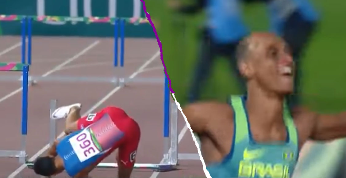 Atleta perdió el oro panamericano en los 400 metros tras caer saltando la última valla