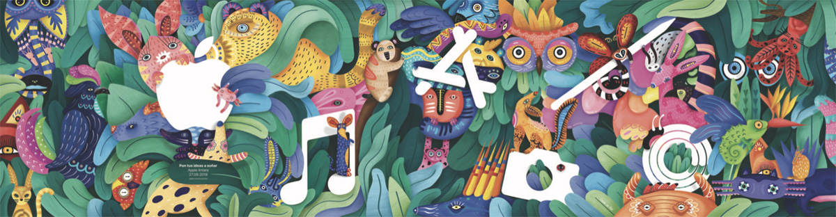 Mural de la nueva Apple Store Antara