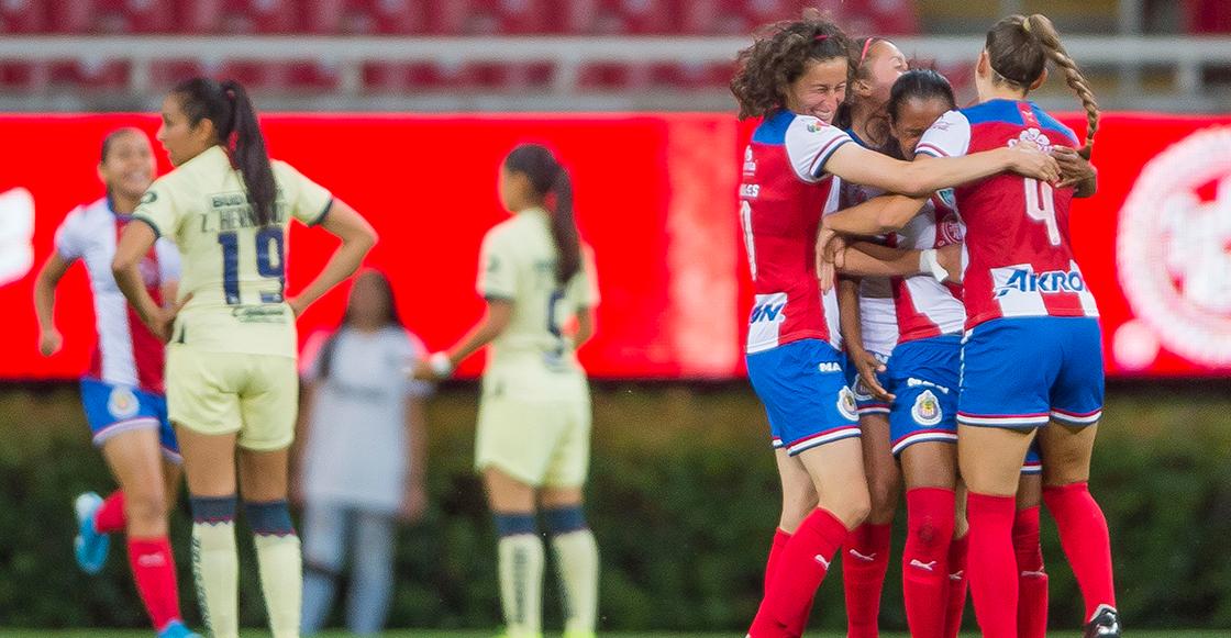 Chivas aplastó al América en el Clásico Nacional Femenil y acá te dejamos los goles