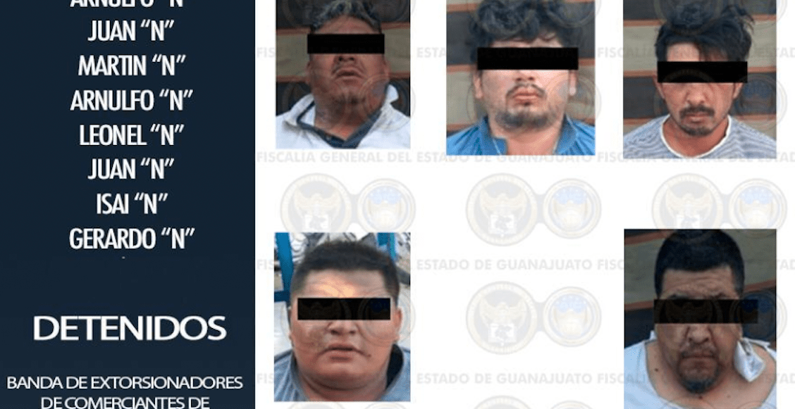 Detienen a banda de presuntos extorsionadores de tortillerías en Celaya