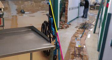 Y en Ecatepec, fuertes lluvias colapsan e inundan el Hospital José María Rodríguez
