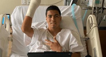 Erick Gutiérrez fue operado con éxito de una fractura en la mano