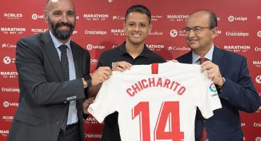 Las primeras palabras del 'Chicharito' como jugador del Sevilla