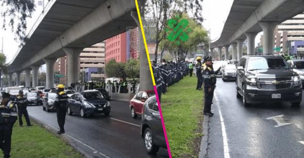 Sigue la mata dando: policías federales se manifiestan en Periférico Sur