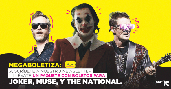 ¡Ya llegó la megaboletiza con boletos DOBLES para 'Joker', Muse y The National!