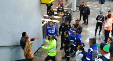 Personal del Metro salvó la vida de un hombre que intentó suicidarse en Pantitlán