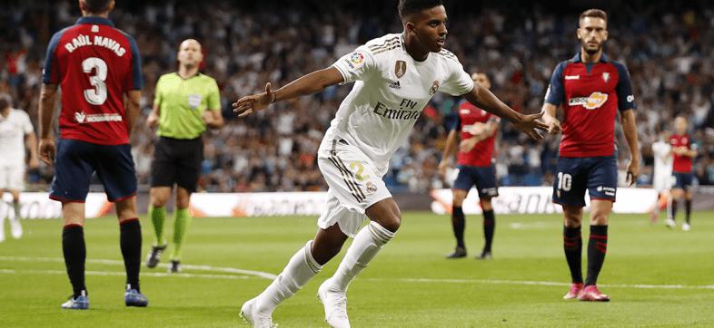 Rodrygo debutó con gol y el Real Madrid es líder de La Liga Española