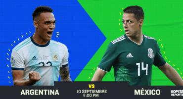 Sigue por acá en vivo el partido de Argentina vs México