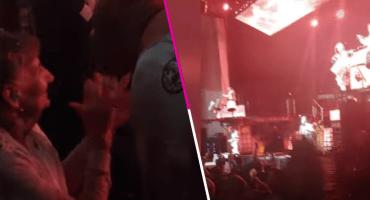 Grandmaggot: Checa a esta abuelita pasándola bomba en el concierto de Slipknot