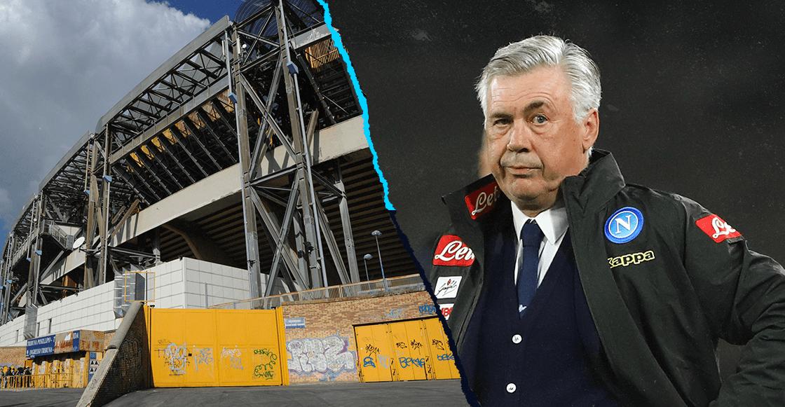 Ancelotti explotó: el Estadio San Paolo aún no tiene listos los vestidores