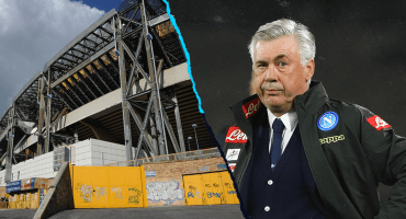 Ancelotti, el DT del Chucky, explota contra las condiciones del estadio del Napoli