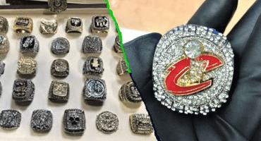 Incautan colección falsa de 28 anillos de campeonato de la NBA