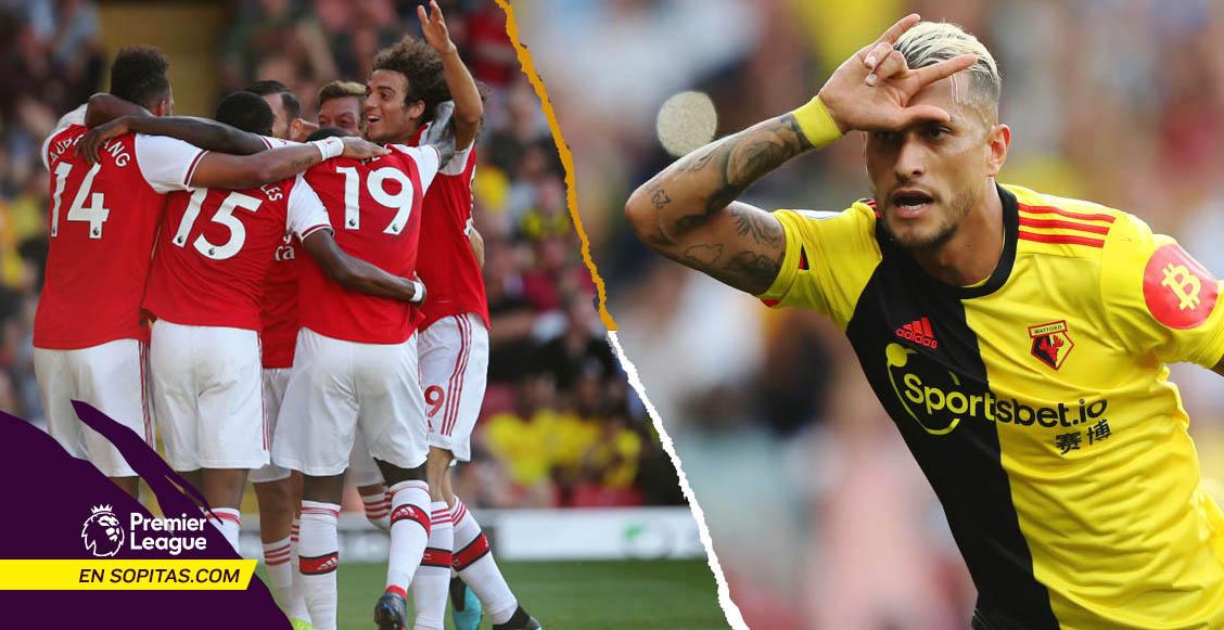 Arsenal la 'cruzazuleó' ante el Watford con tremendos OSOS