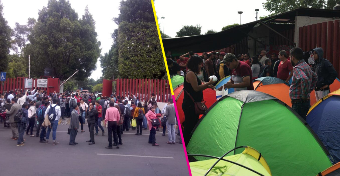 Cámara de Diputados fue desalojada por plantón y bloqueo de la CNTE
