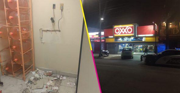 ¡Pa' pronto! Roban dinero de un Oxxo en Coyoacán con todo y cajero automático