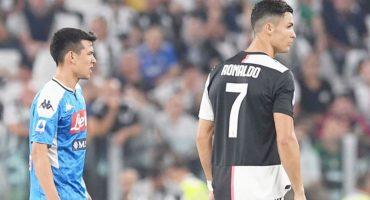 Las felicitaciones de Cristiano Ronaldo al 'Chucky' Lozano por llegar al Napoli