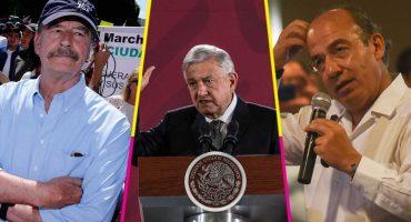 Fox y Calderón critican los 20