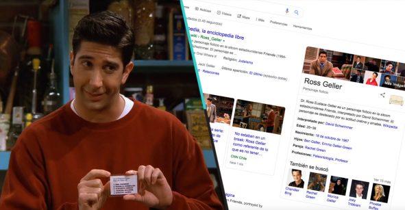 Esto es lo que sucede cuando buscas a los personajes de 'Friends' en Google