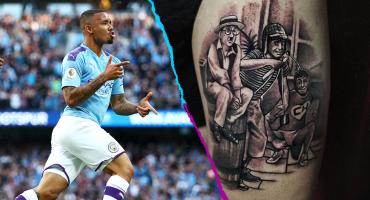 Gabriel Jesus presume tatuajes de tres personajes de Chespirito