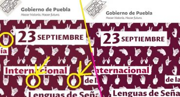 ¡Hasta los cuernitos metaleros! Comunidad sorda acusa discriminación del gobierno de Puebla por símbolos usados
