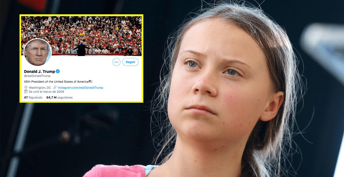Tras burlas, Greta Thunberg le dedica su biografía de Twitter a Donald Trump