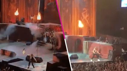The number of the fist: Uno de los miembros de Iron Maiden hirió sin querer a una persona con su guitarra