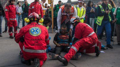 Reporta Sheinbaum 26 heridos durante el simulacro en CDMX