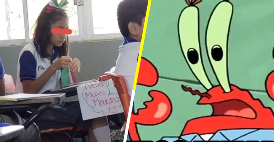 No fue bullying: La verdadera historia detrás de foto de una estudiante que vende moños mexicanos