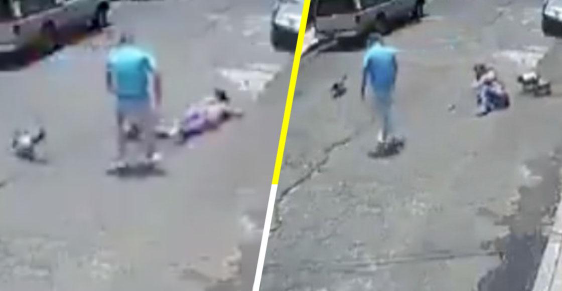 Gandallismo nivel: Hombre taclea a mujer por una pelea entre sus perritos