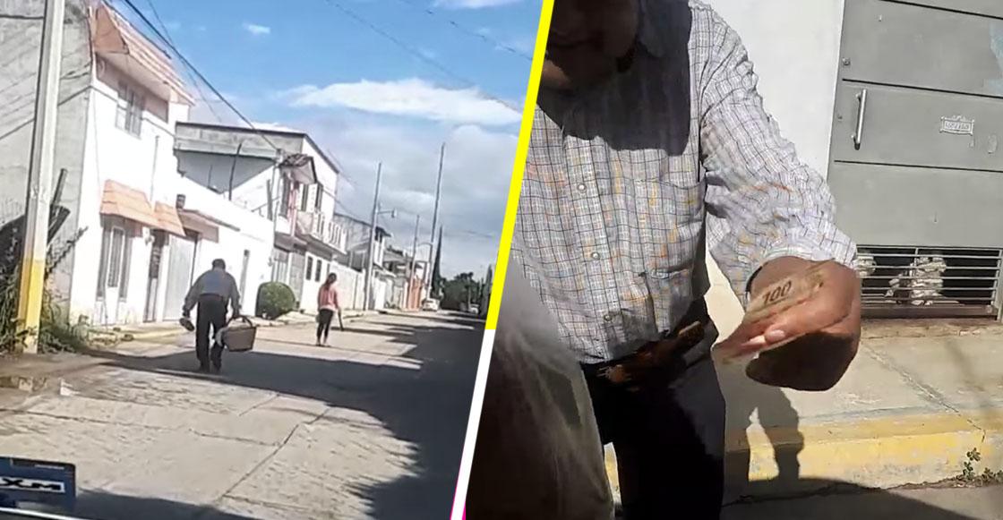 """¡Héroe sin capa! """"El Huarache Oaxaqueño"""" un hombre que regala dinero a gente pobre en Oaxaca"""