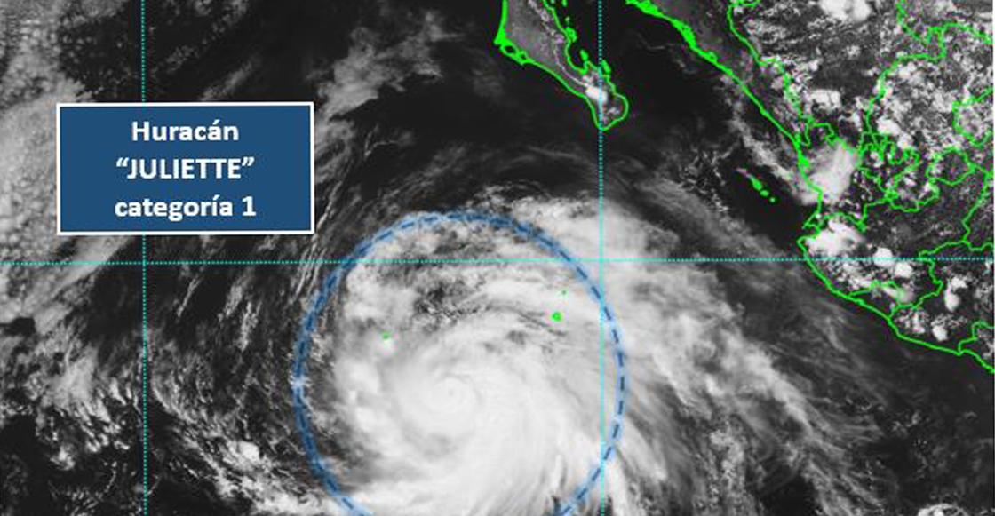 Juliette se convierte en huracán categoría 1 en el Océano Pacífico