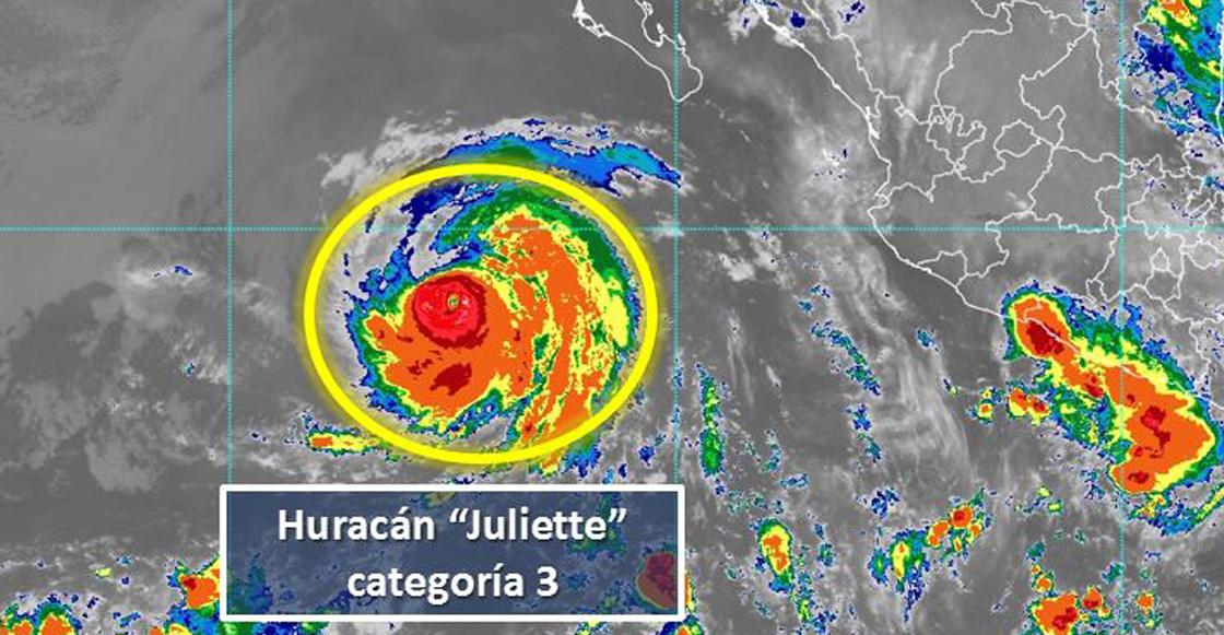 Juliette se intensificó a huracán categoría 3 pero se aleja de costas mexicanas