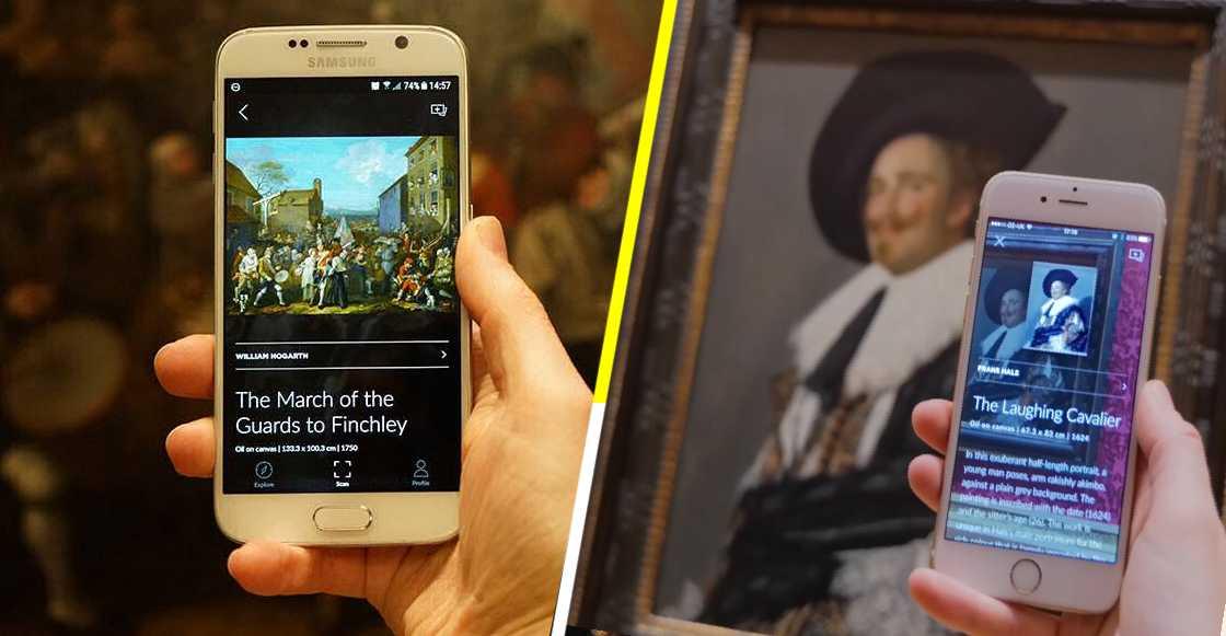 Una obra de arte: Estas aplicaciones descubren qué hay detrás de una pintura