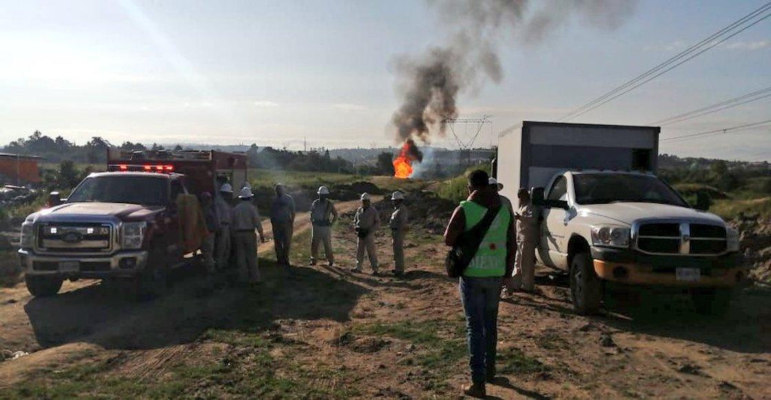 Se incendia toma clandestina en Cuautlancingo, Puebla y deja 6 heridos