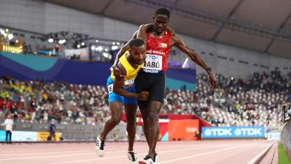 Dramática llegada a la meta de atleta que había sido atropellado seis meses atrás