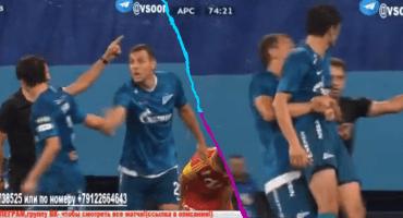 Jugador del Zenit se negaba a salir de cambio… así que lo sacaron cargando