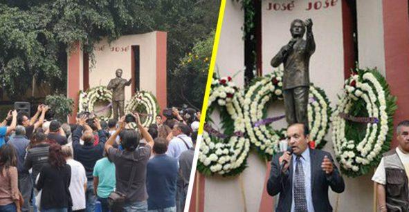 Con flores y un karaoke masivo la gente toma las calles de Clavería para homenajear a José José