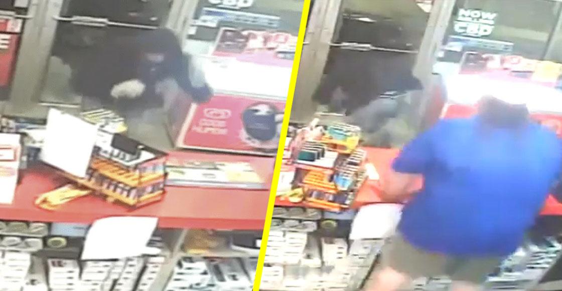 Póngale cero: Ladrón rompe puerta de una tienda al no poder entrar; descubre que se abría para adentro