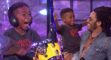 Todo un crack: Lenny Kravitz sorprende a un pequeño fan en el programa de Ellen DeGeneres