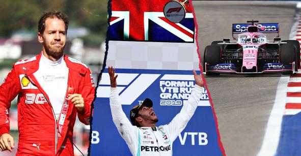 El triunfo de Hamilton, el abandono de Vettel y el carrerón de Checo: Lo que dejó el GP de Rusia